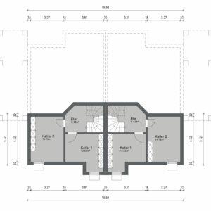 Abbildung Grundriss Haustyp Varianta KG