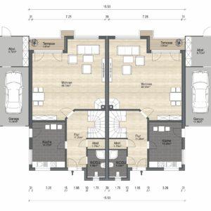 Abbildung Grundriss Haustyp Varianta EG