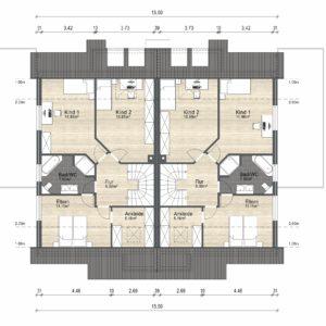 Abbildung Grundriss Haustyp Varianta OG