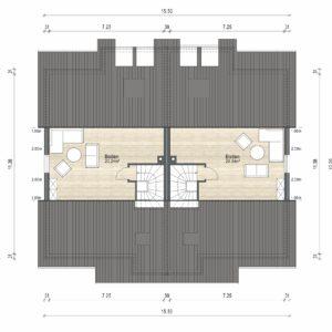 Abbildung Grundriss Haustyp Varianta DG