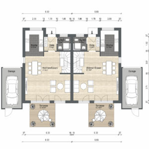 Abbildung Grundriss Haustyp Futura EG