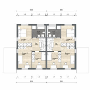 Abbildung Grundriss Haustyp Futura OG