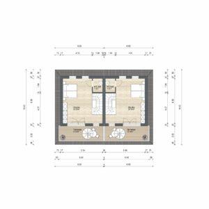 Abbildung Grundriss Haustyp Futura DG