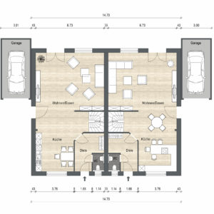 Abbildung Grundriss Haustyp Prima EG