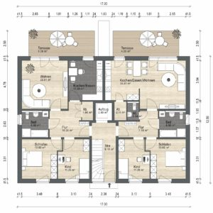 Abbildung Grundriss Haustyp Familia EG