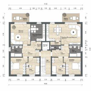 Abbildung Grundriss Haustyp Familia OG