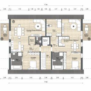 Abbildung Grundriss Haustyp Familia DG