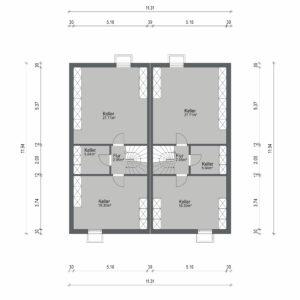 Abbildung Grundriss Haustyp Optima KG