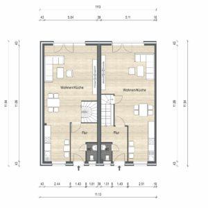 Abbildung Grundriss Haustyp Optima EG 02