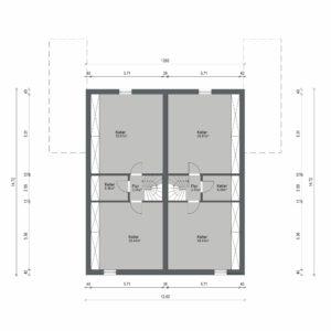 Abbildung Grundriss Haustyp Prima L KG