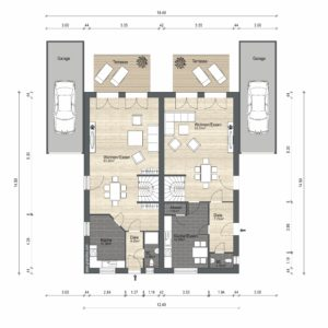 Abbildung Grundriss Haustyp Prima L EG