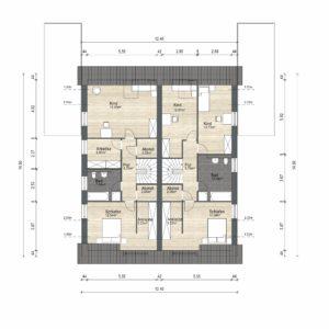 Abbildung Grundriss Haustyp Prima L OG