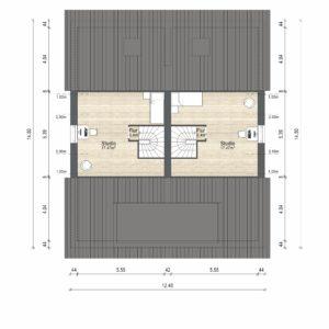 Abbildung Grundriss Haustyp Prima L DG