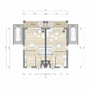 Abbildung Grundriss Haustyp Optima L EG