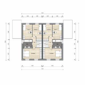 Abbildung Grundriss Haustyp Optima L OG