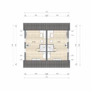 Abbildung Grundriss Haustyp Optima L DG
