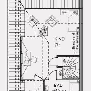 Abbildung Grundriss Dachgeschoss Hirschweg