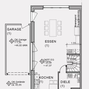 Abbildung Grundriss Erdgeschoss Hirschweg