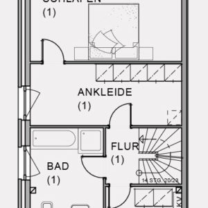 Abbildung Grundriss Obergeschoss Hirschweg
